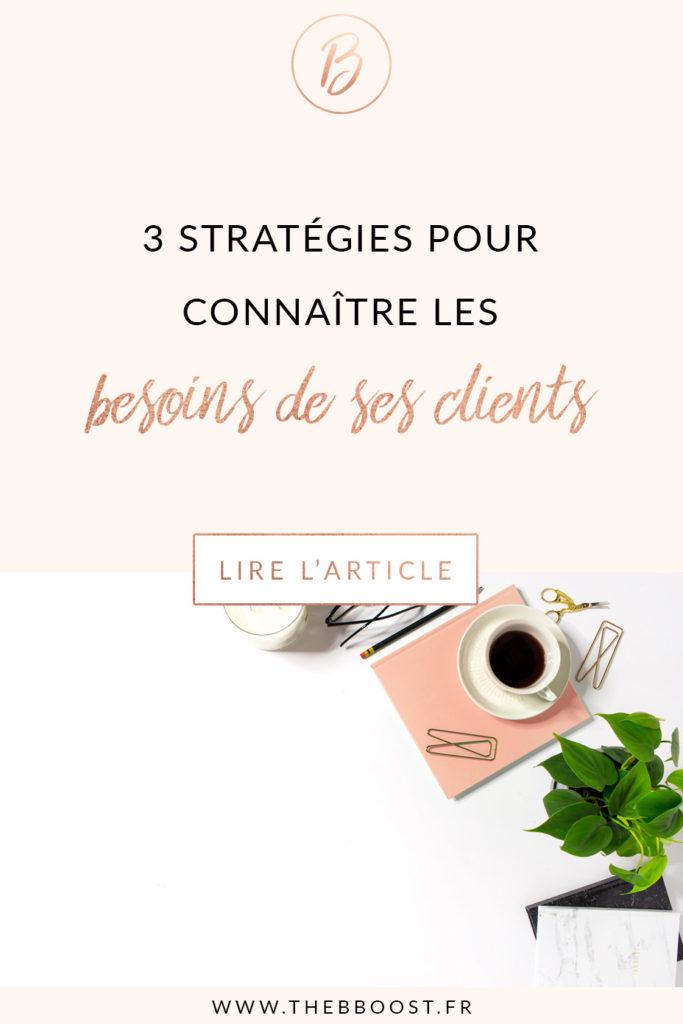3 stratégies simples, concrètes et faciles à mettre en place pour connaître les besoins de ses clients. Un article du blog TheBBoost.