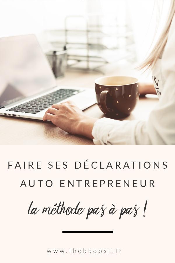 La méthode pas à pas pour déclarer son CA en auto entrepreneur. Un article du blog TheBBoost. #autoentrepreneur #microentrepreneur #freelance #entreprise